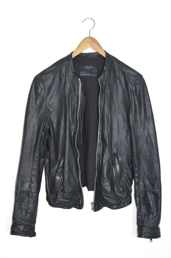 18f161d5b eBay #Sponsored RARE AS HELL! AllSaints Mens COLLIDE Leather Bomber ...