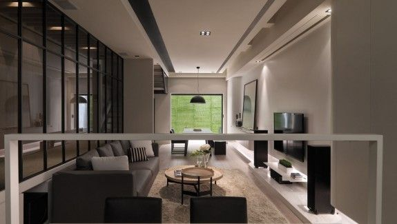 A multi level contemporary apartment