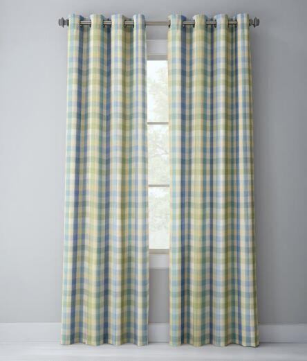 Moire Plaid Grommet Top Curtains | Curtains | Pinterest | Tops ...