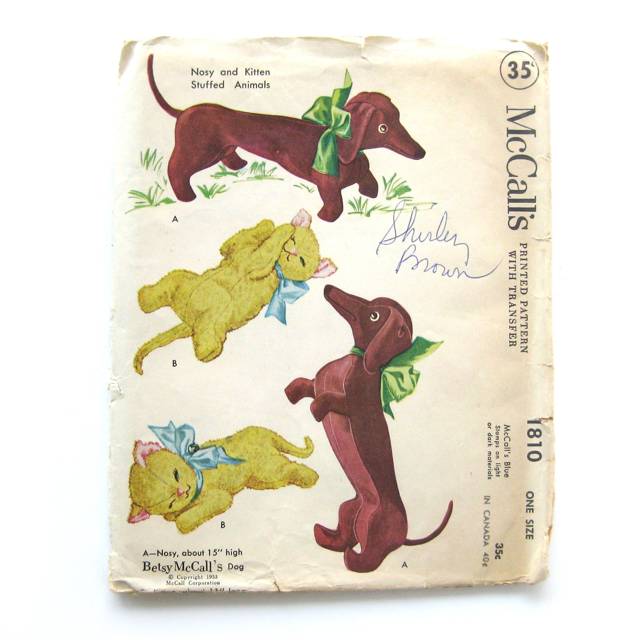 Rare Vintage 1953 Mccall S 1810 Betsy Mccall S Dog Nosy Dacshund