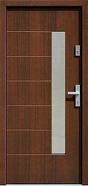 Drzwi zewnętrzne nowoczesne model 478,5 w kolorze orzech