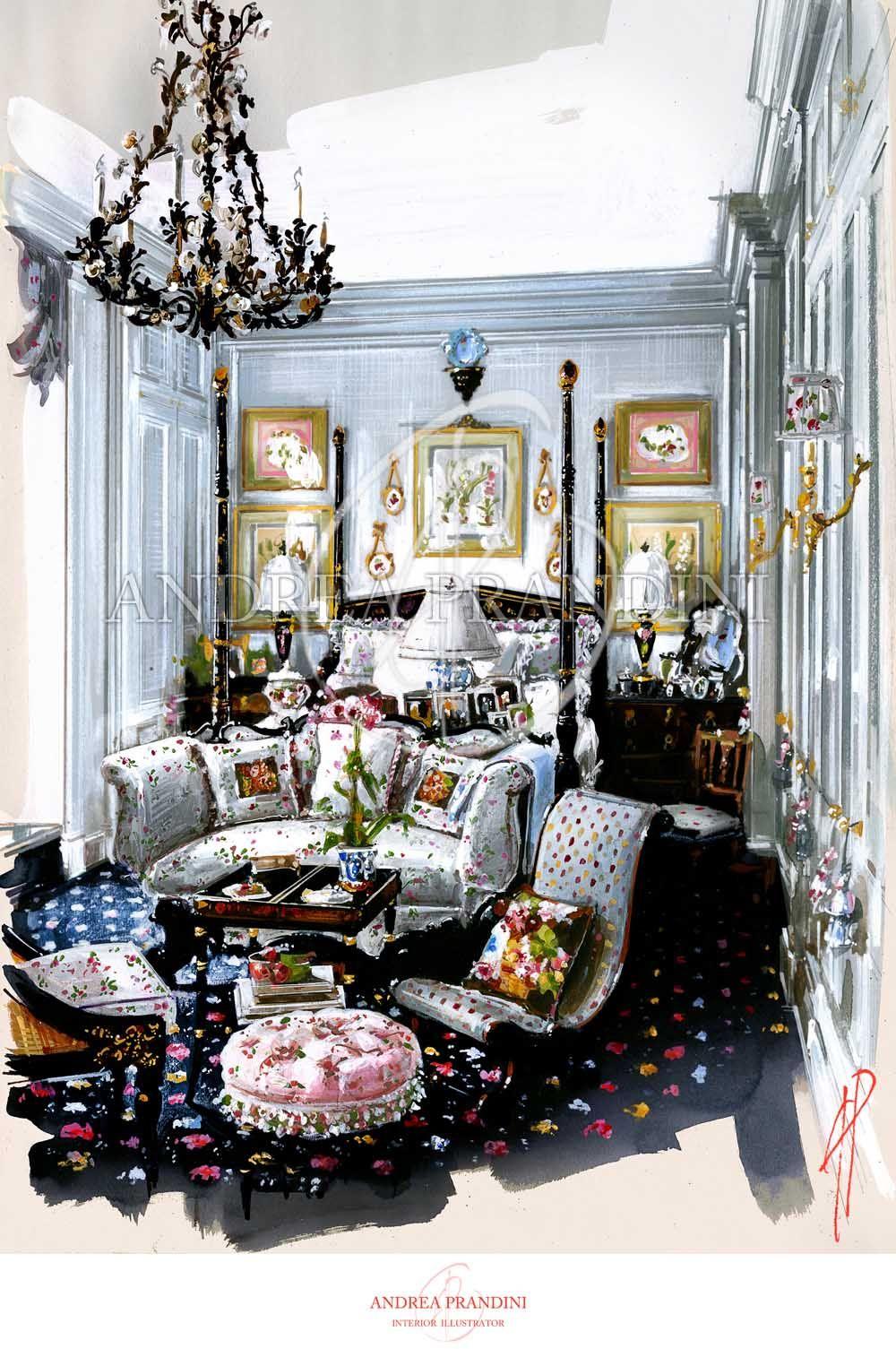 Interior Illustration And Visualization Watercolor