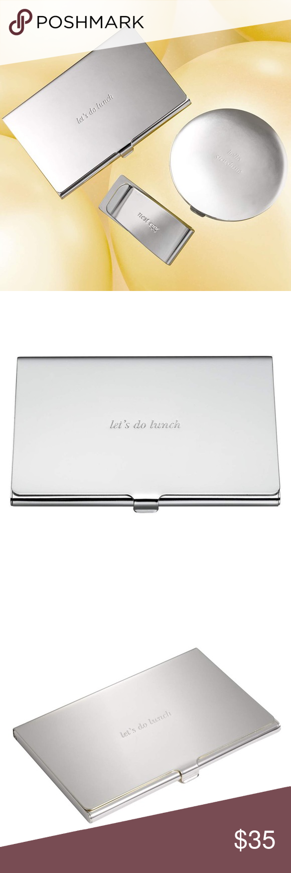 """New Kate Spade """"Lets Do Lunch"""" Card Holder Polished to a gorgeous ..."""