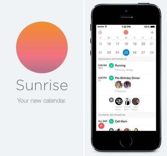 Sunrise App Streamlined Calendar Sunrise App App Favorite Apps