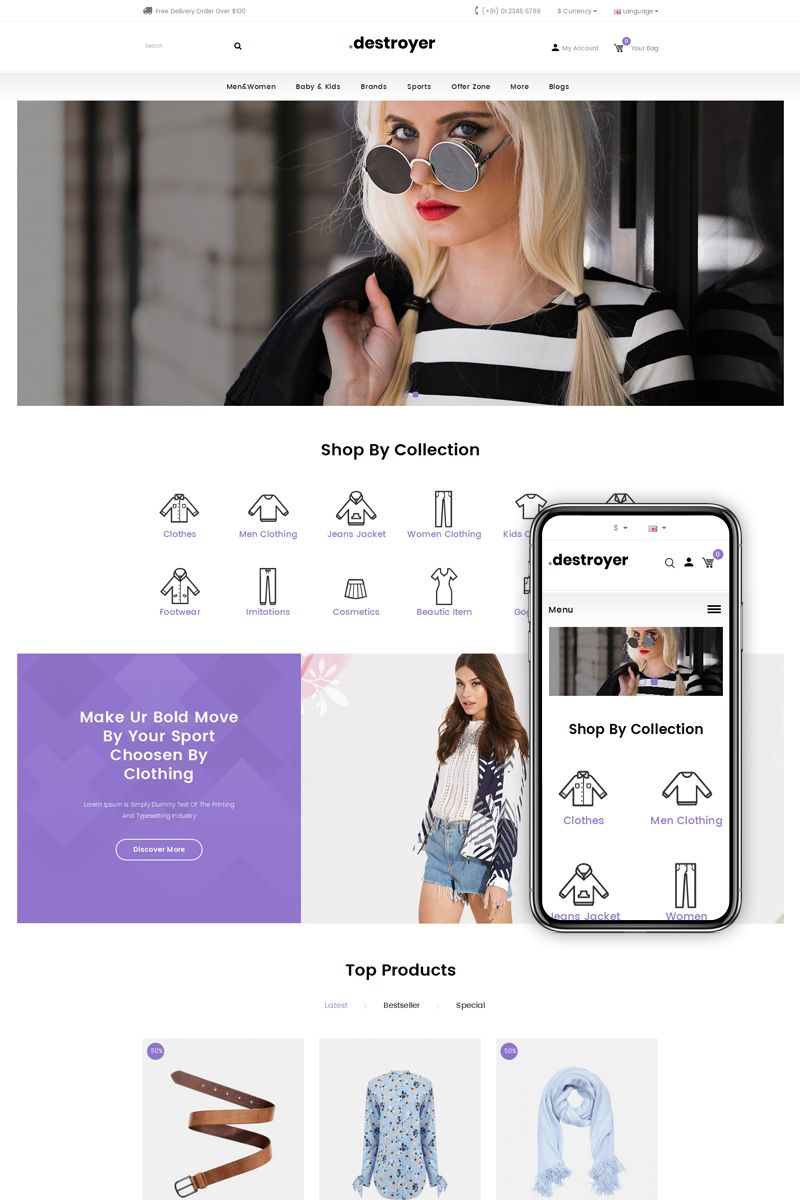Destroyer fashion store opencart template my design pinterest destroyer fashion store opencart template opencart fashion destroyer store maxwellsz
