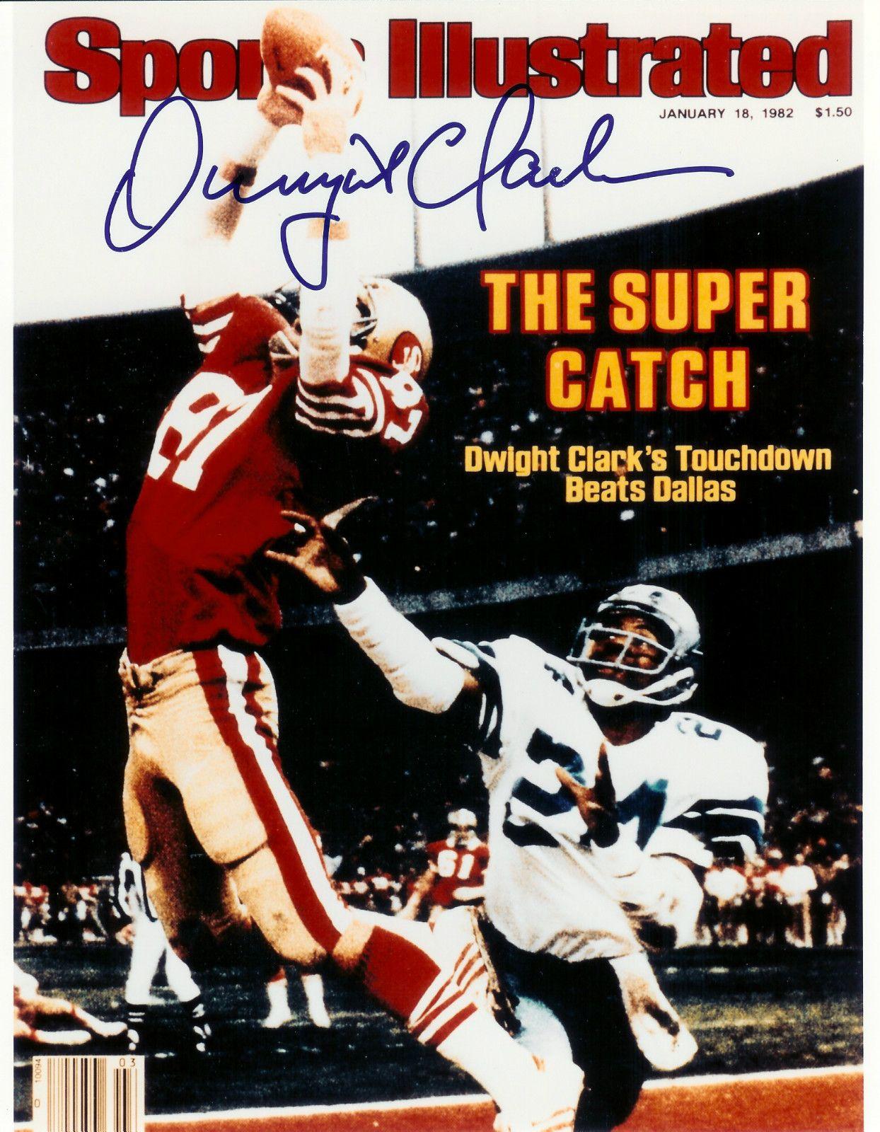 51966de5f2b DWIGHT CLARK SF 49ers AUTOGRAPHED CATCH authentic signed 8X10 Photo 2 Super  Bowl