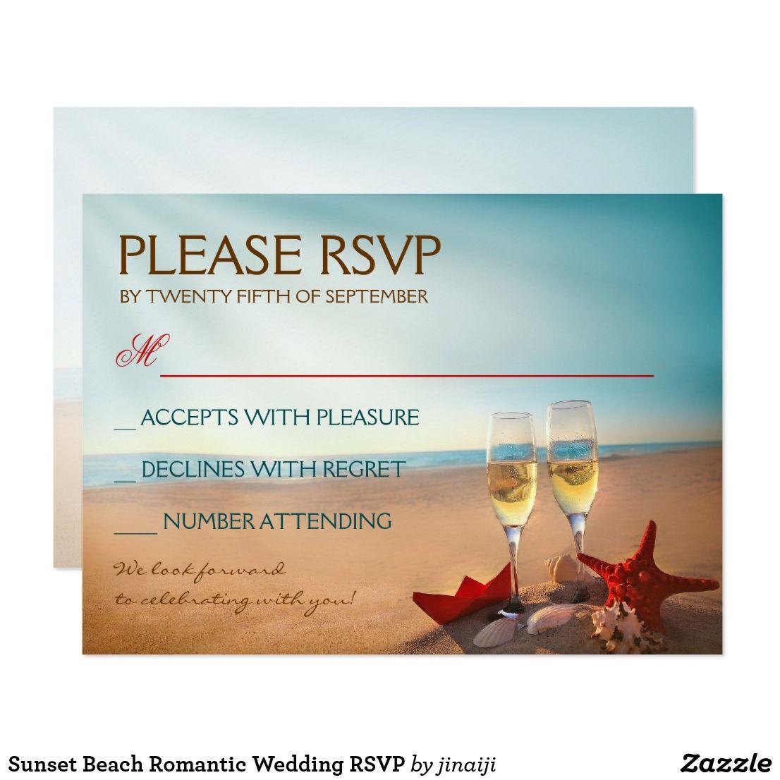 Sunset Beach Wedding Ideas: Sunset Beach Romantic Wedding RSVP