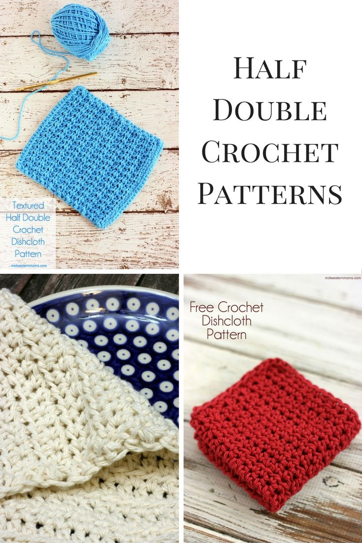 Half Double Crochet Patterns | 45 free/easy knits | Pinterest