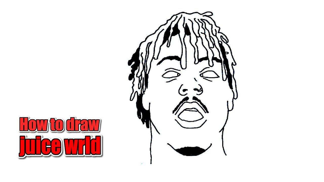 How To Draw Juice Wrld Cartoon Easy Step By Step Dark Art Drawings Simple Cartoon Youtube Art Tutorials