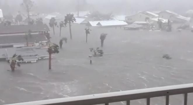 Crazy Footage Shows The Scale Of Hurricane Michael's Storm Surge On The Florida Coast