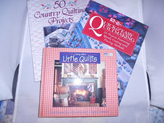 QUILT SEWING PATTERN Books lot Group of 3 books by vintagebyrudi, $7.99
