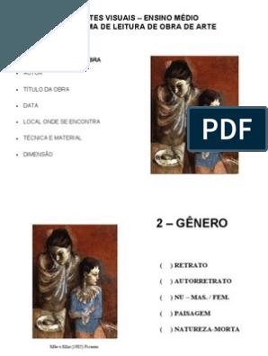 Esquema de Leitura de Obra de Arte - Obras de arte, Arte ...
