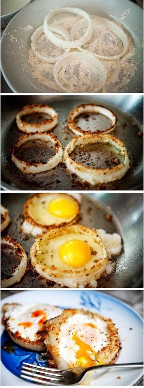 onion ring eggs recette cuisine recettes de cuisine. Black Bedroom Furniture Sets. Home Design Ideas