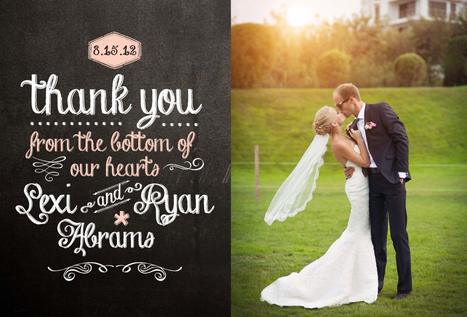 17 Best images about Thank You Card Design Ideas – Modern Wedding Thank You Cards