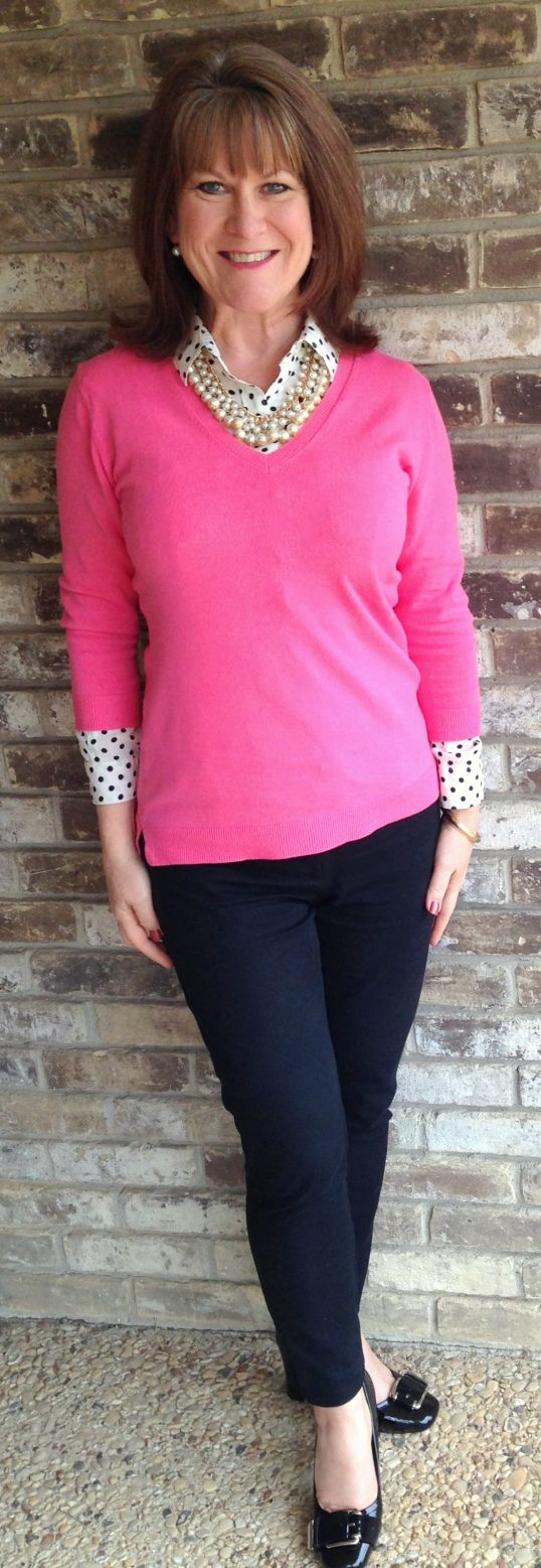 Frugally Yours-- Pink cotton 3/4 sleeve sweater: Costco (yes, Costco ...