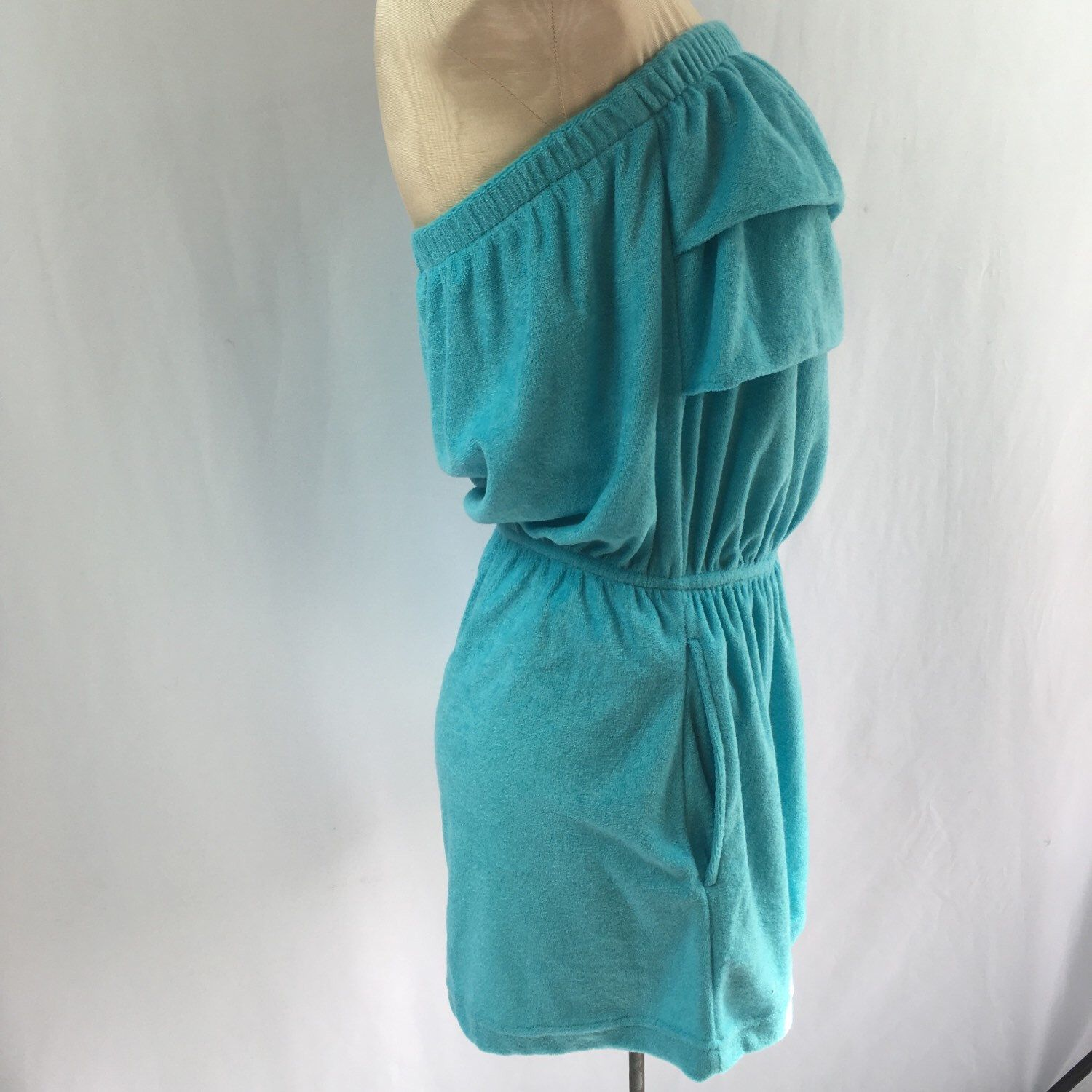 A personal favorite from my Etsy shop https://www.etsy.com/listing/269210415/vintage-aqua-terrycloth-romper