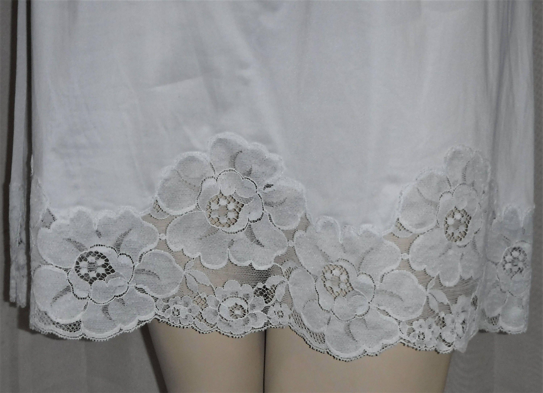 Vintage Powder Blue Lacy Floral Rose Lace Half Slip Nylon Medium by  ShonnasVintage on Etsy