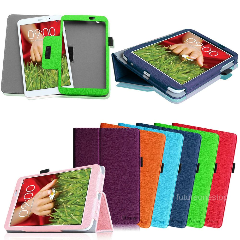 Folio Leather Stand Case Cover Wake/Sleep for LG G Pad 8 3