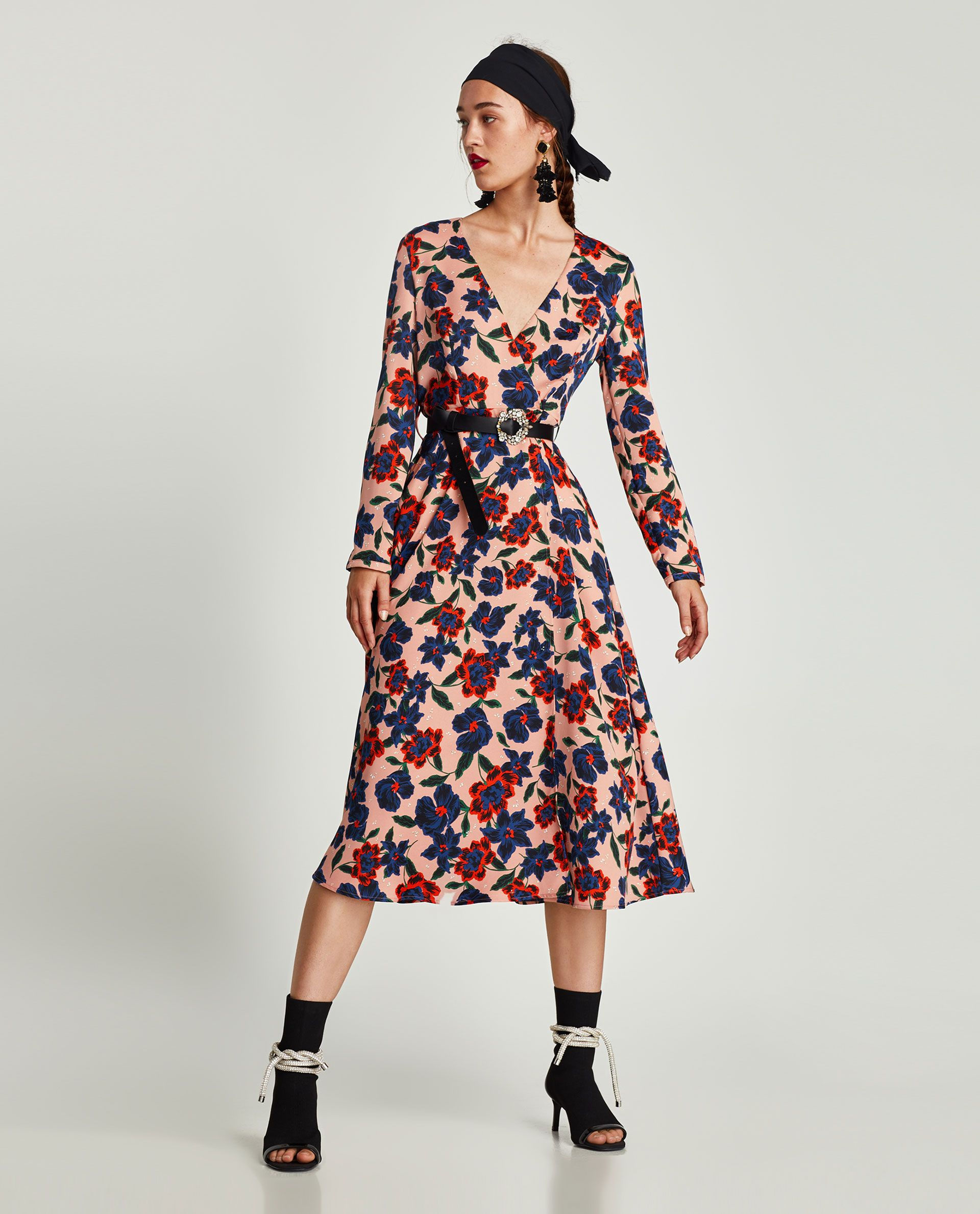 2afd09aa4d Image 1 of FLORAL PRINT MIDI DRESS from Zara | window shopping ...