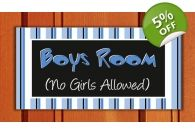 Boys Room No Girls Allowed