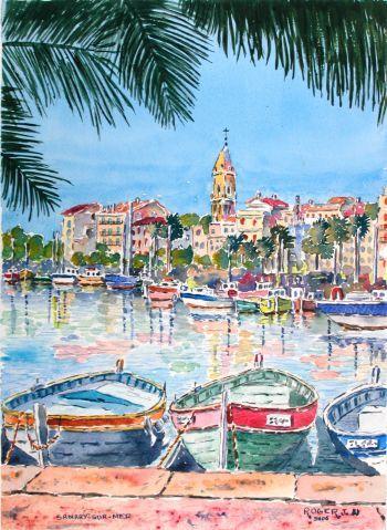 Sanary Sur Mer France By J Roger Peinture Paysage Sanary Sur