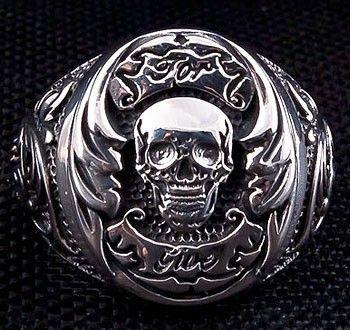 skull wedding bands for men tattoo skull mens wedding silver rings - Mens Skull Wedding Rings