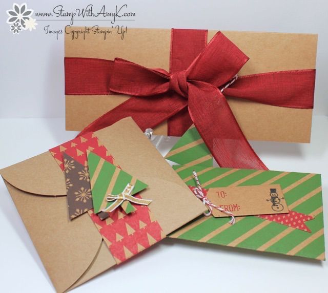 Gift Card and Money Holders - Stampin' Up! - Stamp With Amy K