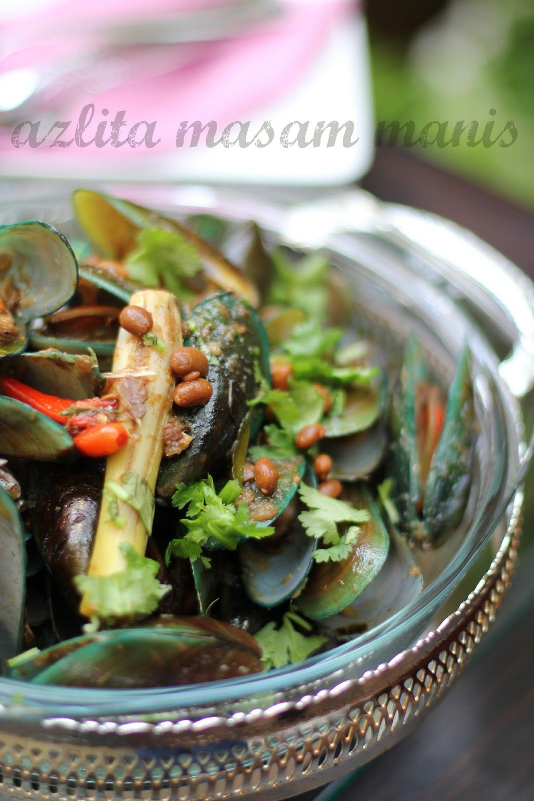 Masam Manis Kupang Goreng Pedas Dgn Tauco Malaysian Food Cooking Recipes Food