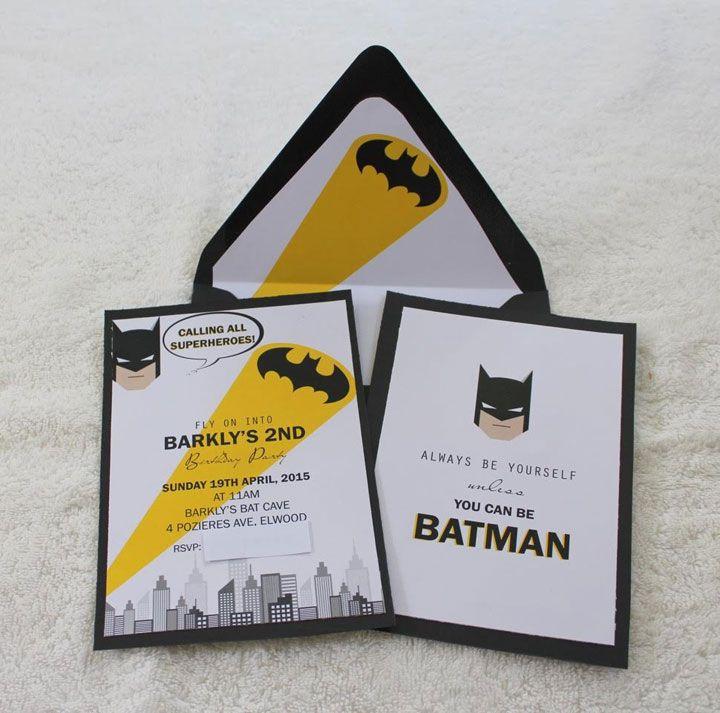 Batman Invitation | Party! Superhero | Pinterest | Batman ...