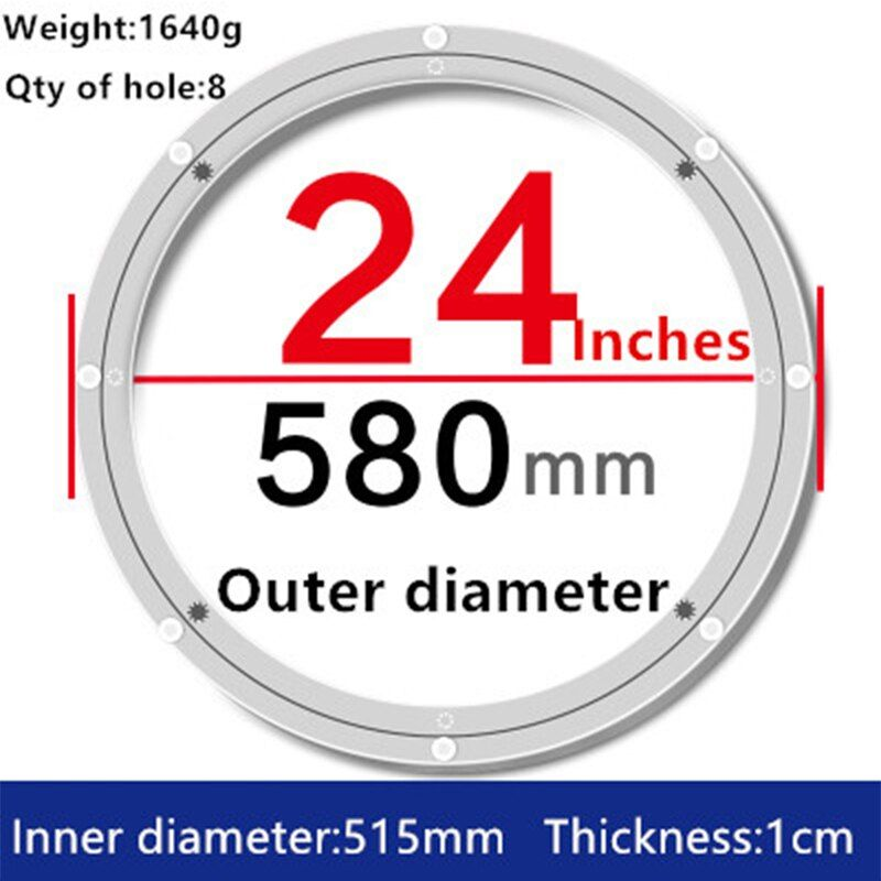 1 Piece 24 Inches 58cm Big Aluminium Alloy Swivel Plate For Kitchen Furniture Lazy Susan Turntable Dining Table Furniture Hardware Lazy Susan Plate Rack Wall