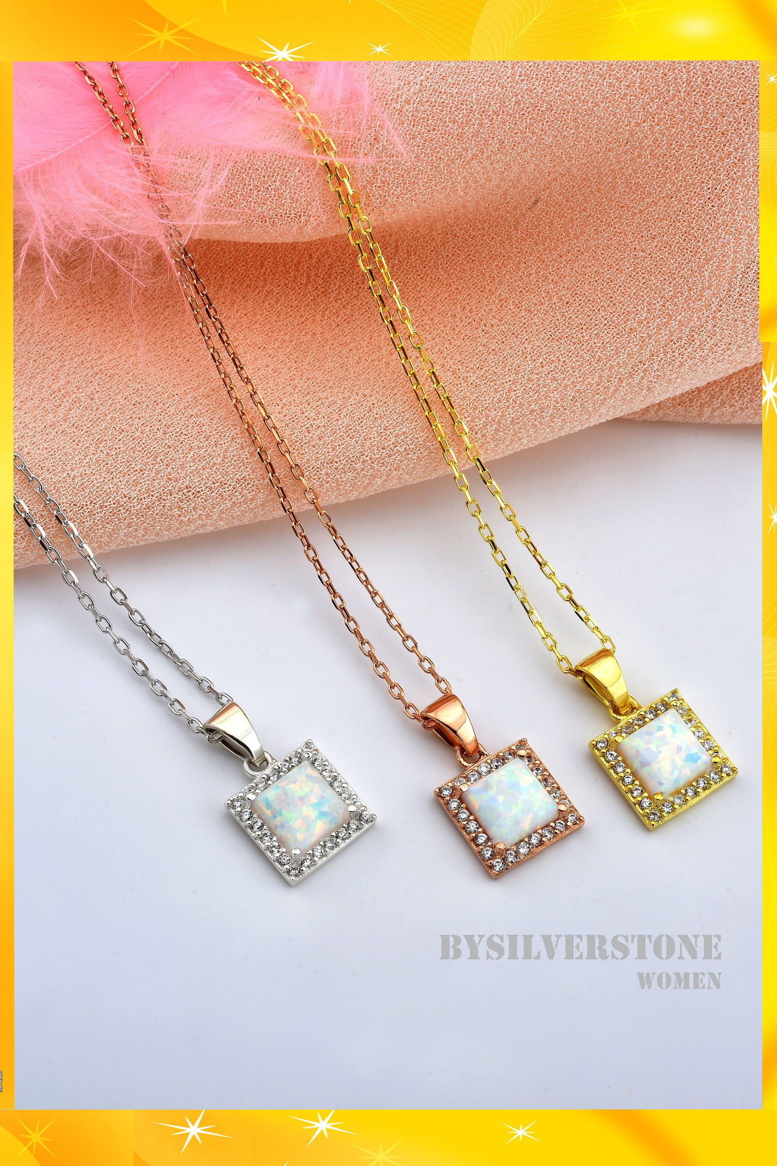 14k Gold Square Opal Pendant Dainty Opal Necklace Gold Opal Etsy Dainty Opal Necklace Gold Chain With Pendant Bridesmaid Necklace Gift