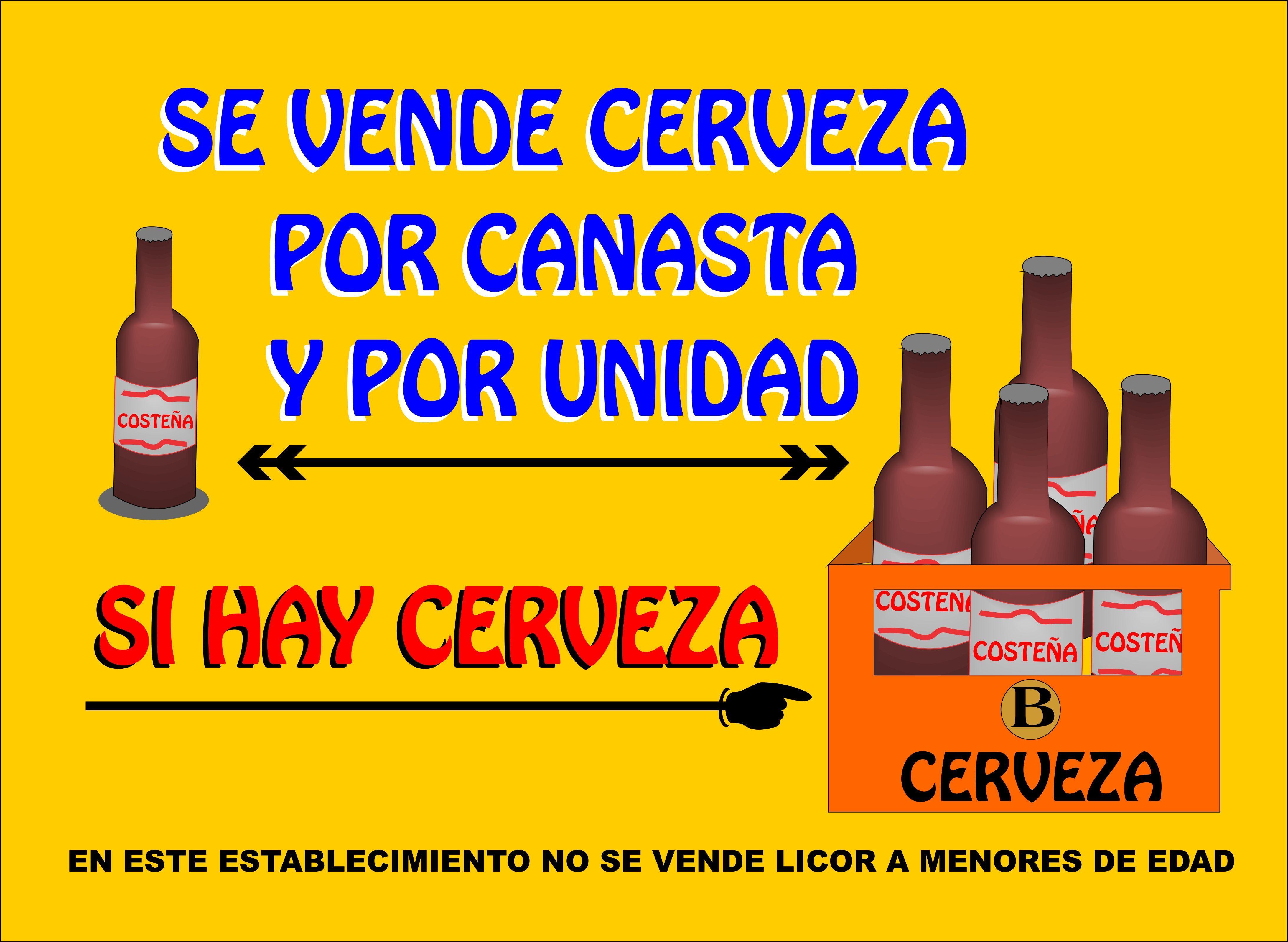 Aviso De Venta De Cerveza Para Tienda Pequena Venta De Cerveza