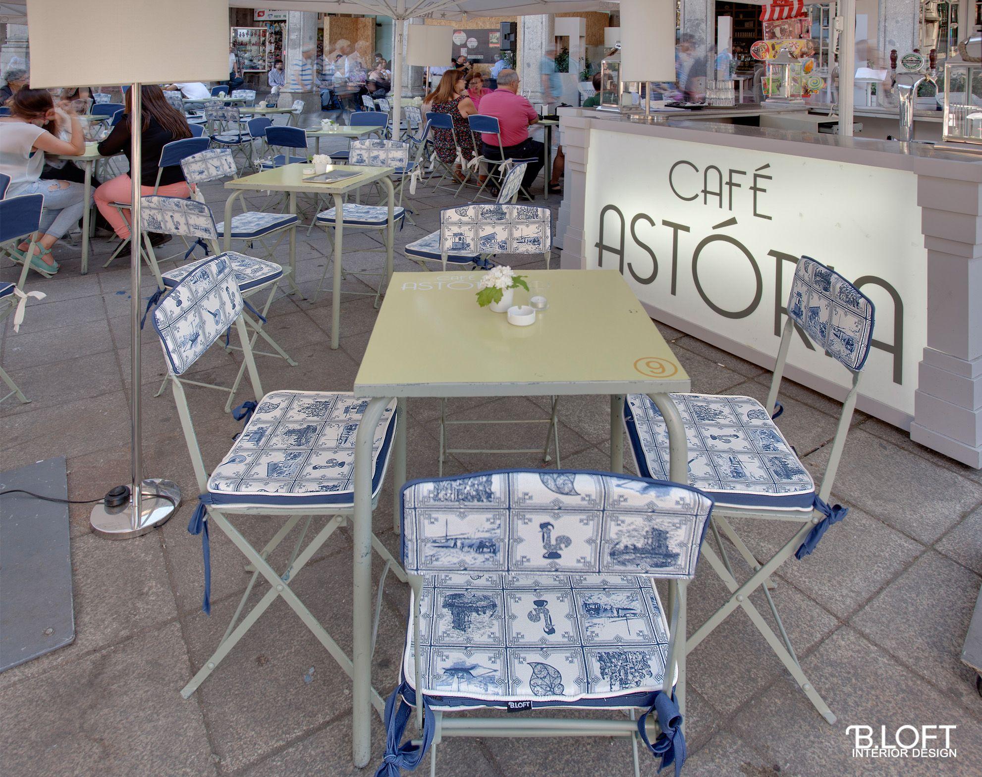 CAFÉ ASTÓRIA- Projecto de Decoração, Esplanada