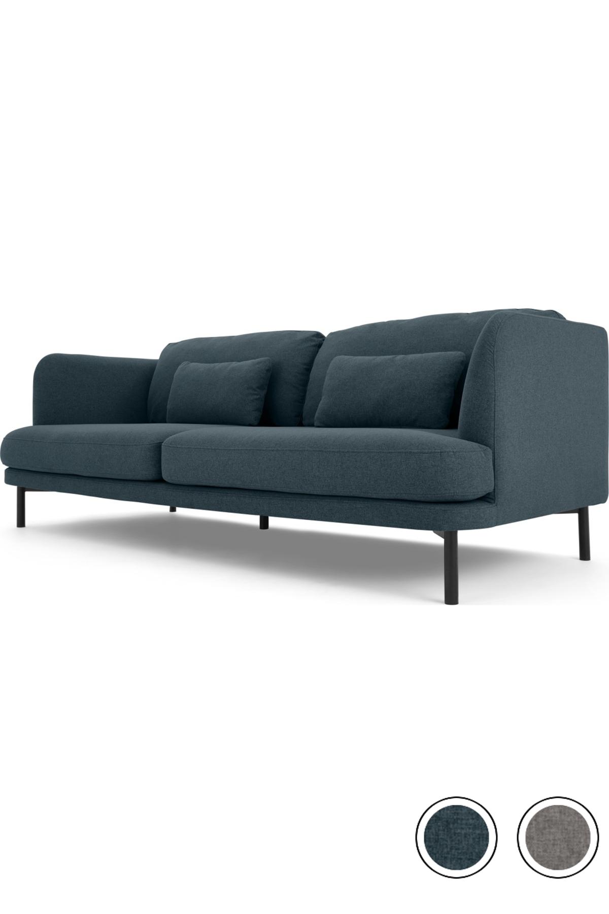 Herman 3 Seater Sofa Aegean Blue 3 Seater Sofa Seater Sofa