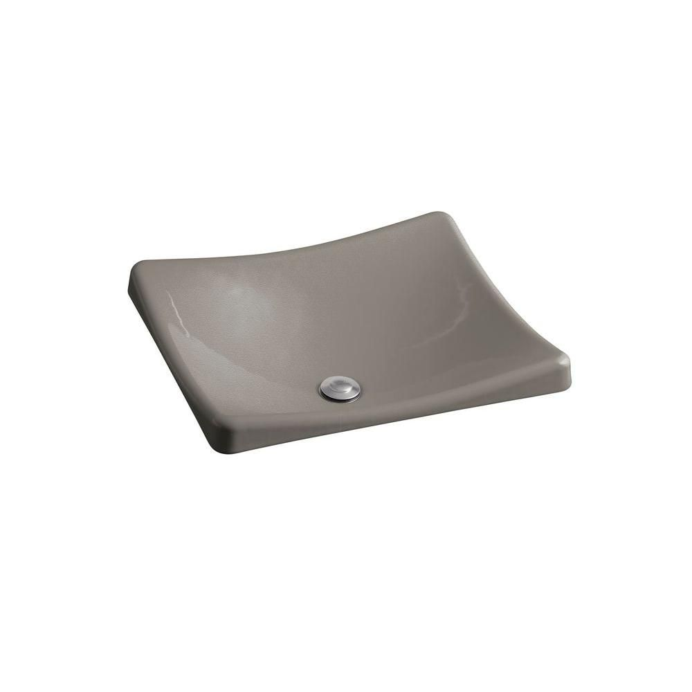 Kohler Demilav Wading Pool Cast Iron Vessel Sink In Cashmere