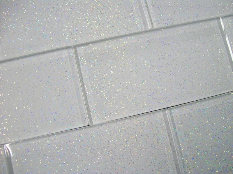 Glass Brick Wall Tiles Infinity Glitter White 8mm Thick Glass Ebay Glass Brick Brick Tiles Sparkle Tiles