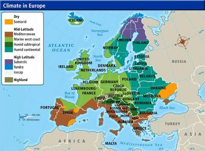 Europe s climate Maps and Landscapes