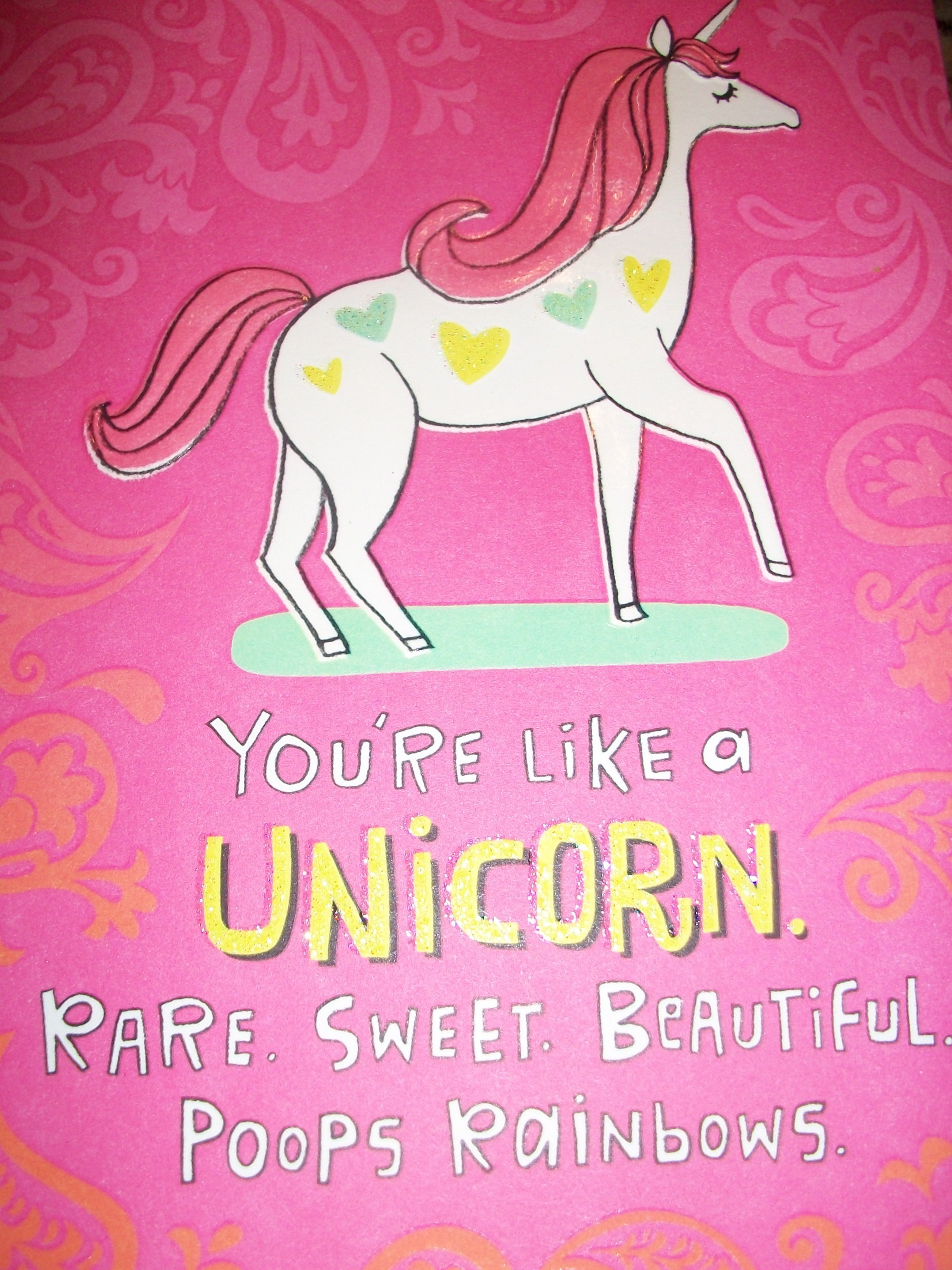 unicorn birthday card google search unicorns pooping