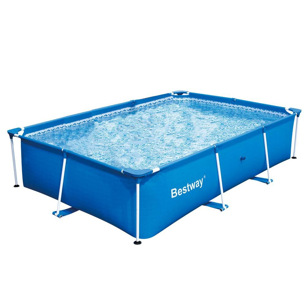 Bestway Bestway Rectangular 118 In X 79 In X 26 In Deluxe Splash Frame Kids Pool 56043us 56498e Bw The Home Depot Rectangular Pool Kid Pool Children Swimming Pool