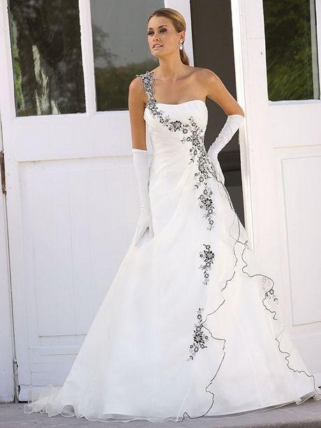 Brautkleider Schwarz Weiss Andrea Brautkleid Hochzeitskleid Und