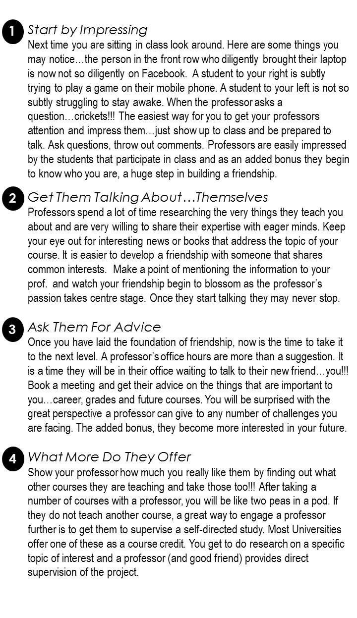 You And Your Professor Best Friend Essay Question Examples Interview