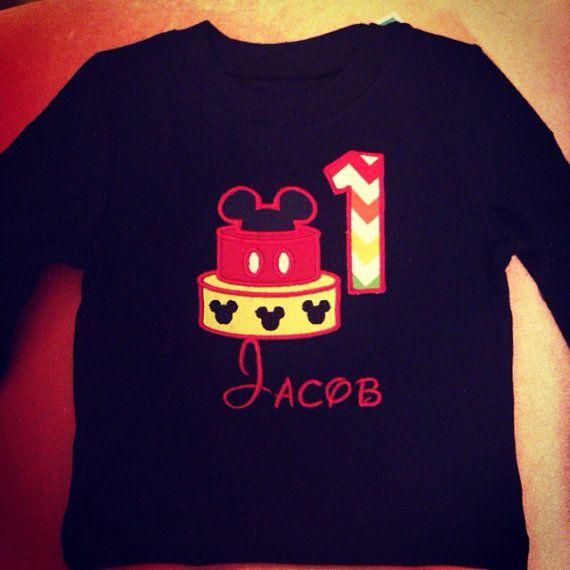 Customized Disney Themed Applique Birthday Shirt