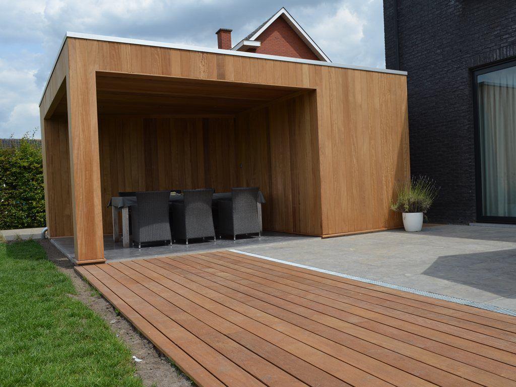 Afbeeldingsresultaat voor overdekt terras modern tuin pinterest