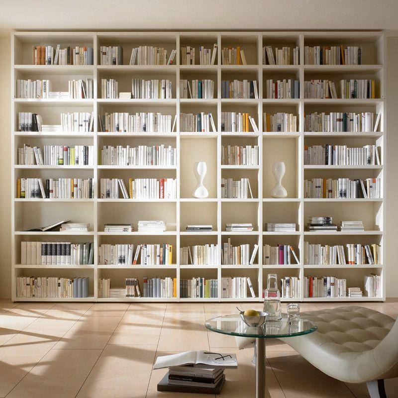 Wohnwand Bücherregal TOLEO238 weiß lackiert Jetzt bestellen unter - designer mobel bucherregal
