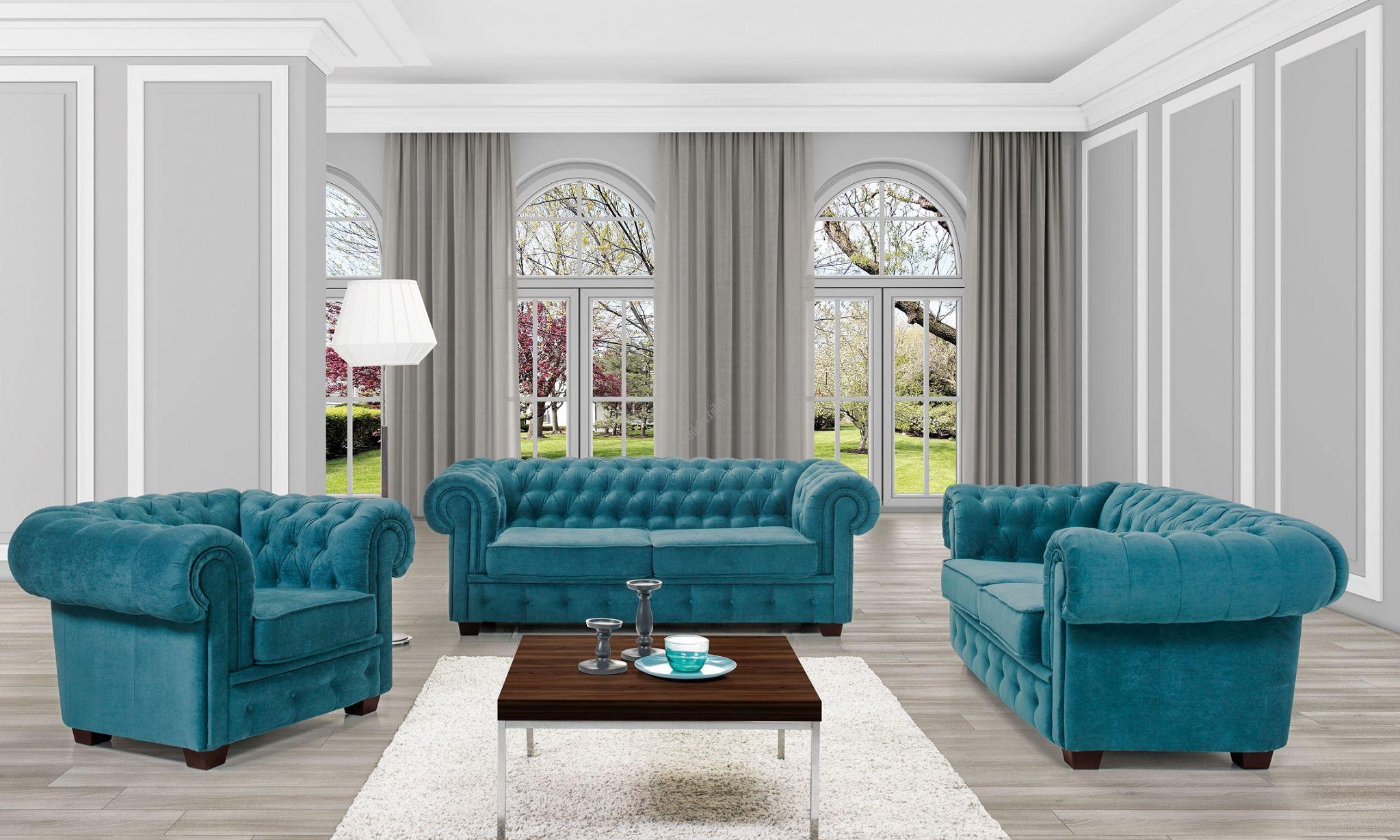 Couchgarnitur MANCHESTER 3 2 1 Sofa Couch Polsterecke Ecksofa