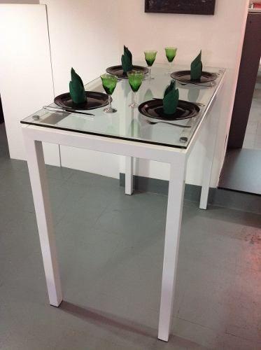 Barra Desayunador Mesa De Comedor Alta Para 4 - $ 6.700,00 | tejidos ...