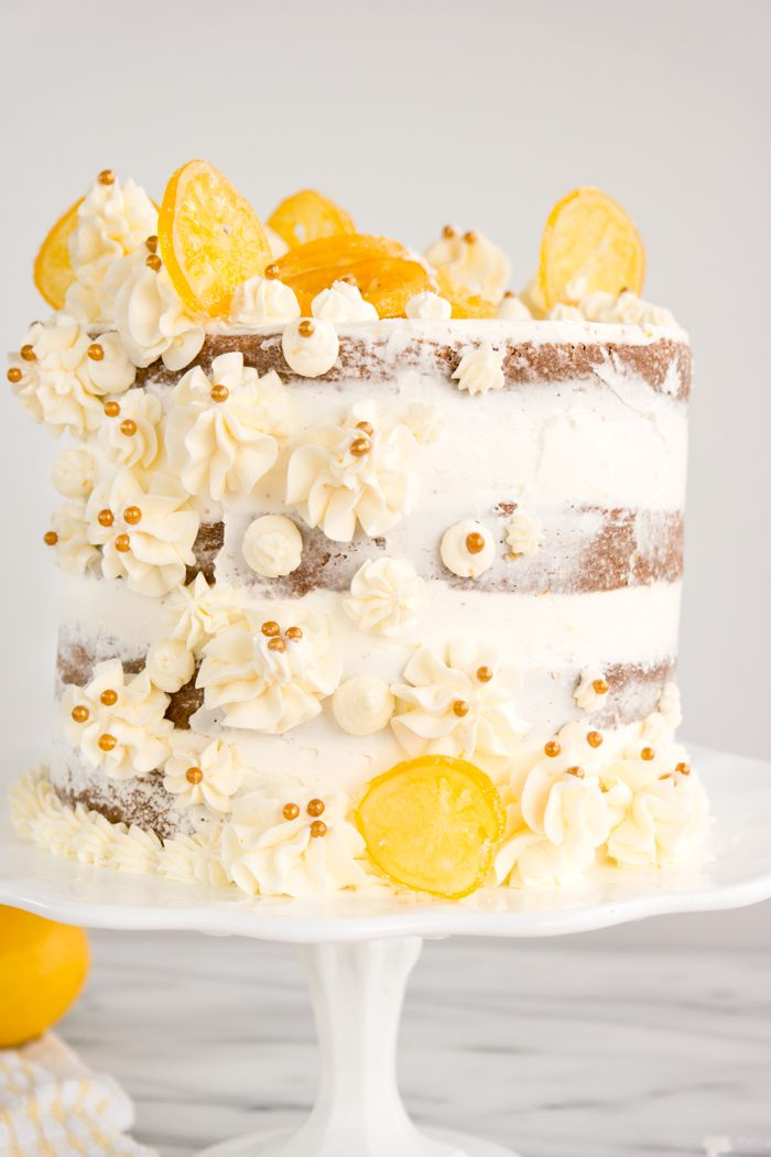Meyer Lemon Sour Cream Cake Meyer Lemons Are The Star Of The Show Is This Fabulous Sour Cream Cake And S Sour Cream Cake Lemon Sour Cream Cake Boozy Chocolate