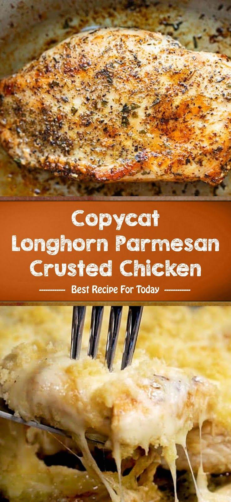 Copycat Longhorn Parmesan Crusted Chicken