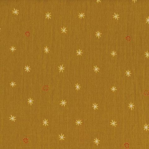 Cotton + Steel Bespoke Spark Mustard Double Gauze