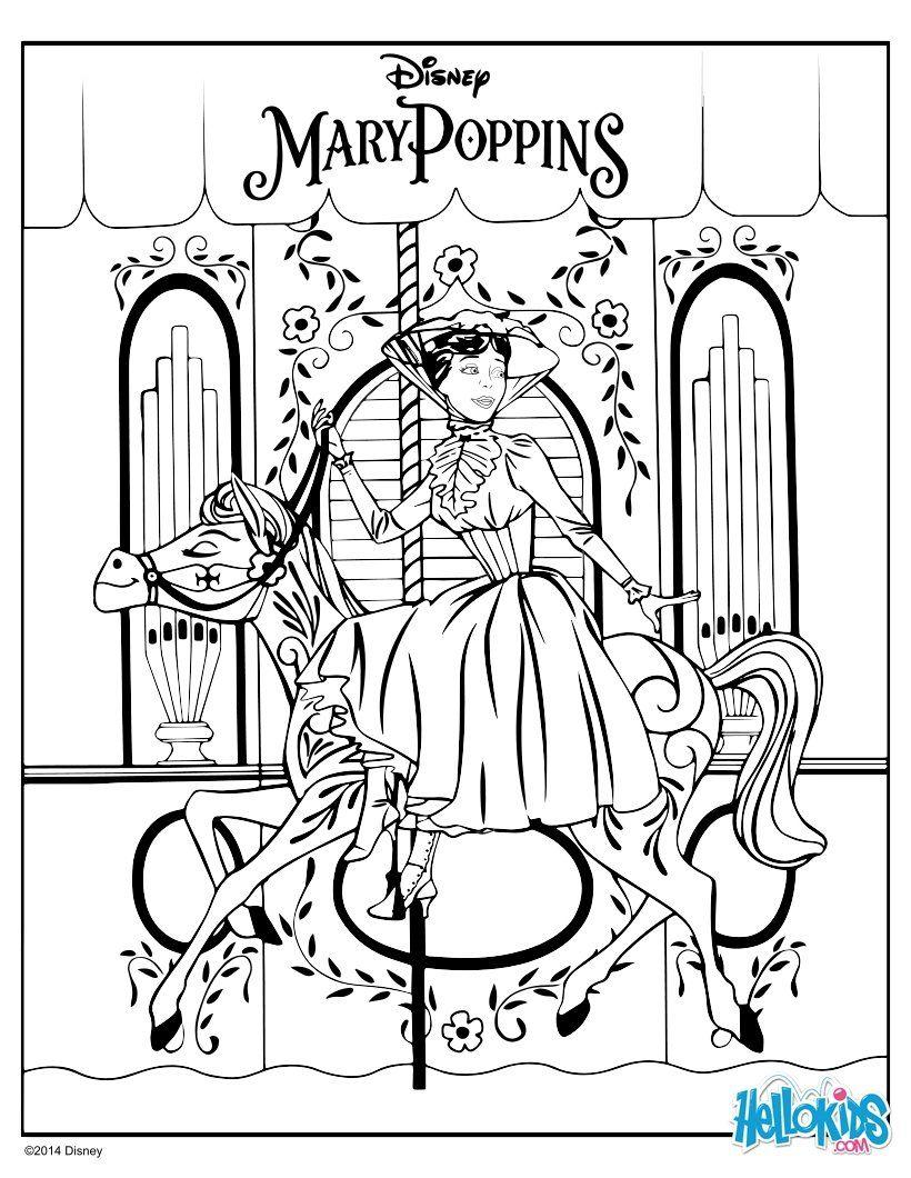 DISNEY zum Ausmalen - Mary Poppins  Coloriage, Image a colorier